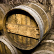 Wine barrels closeup — Stock Photo