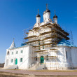 Russian church reconstruction - Stock Photo