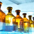 Vessels in laboratory — Stock Photo
