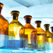 Stock Photo: Vessels in laboratory