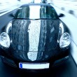 Sport car with special zoom blur effect - Stock Photo