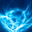 Abstract blue fractal with motion effect - Stock Photo