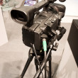 Professional video camera on exhibotion - Stock Photo