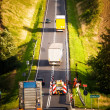 Road to the hill — Stockfoto