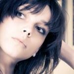 Young brunette woman portrait — Stock Photo