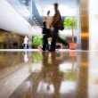 Walking in modern business center - Stock Photo