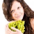 Young woman with grapes — Stock Photo #1752136