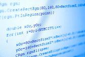 προγραμματισμού κώδικα μπλε απόχρωση — Φωτογραφία Αρχείου
