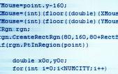 Programmering code close-up — Stockfoto