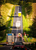 Road to the hill — Stock Photo