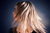 Long hairs in a motion — Stock Photo