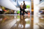 Walking in modern business center — Stock Photo