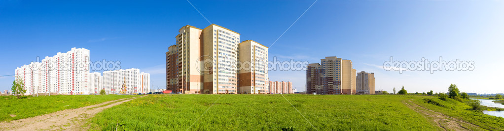 New buildings panorama. Russia Moscow region. — Stock Photo #1752077