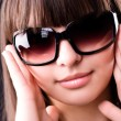 Young woman in sunglasses portrait — Stok fotoğraf