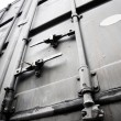Metallic doors of transport container — Стоковая фотография
