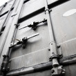 Metallic doors of transport container — Stockfoto