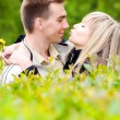 Stock Photo: Young couple kissing