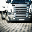 Heavy truck front view - Stock Photo