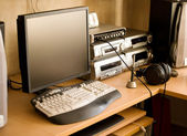Work place with computer — Stock Photo