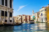 Vista del gran canal de venecia — Foto de Stock