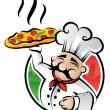 Pizza Chef — Stock Vector