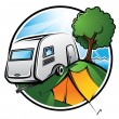 Camping Area - Stock Vector