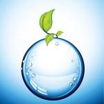 Vector glass ball — Stock Vector