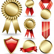 Stock Vector: Award ribbons