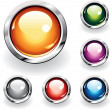 Stock Vector: Glossy Buttons