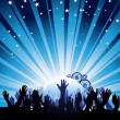 Crowd reaching towards the sky - Stock Vector