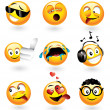 Stock Vector: Various emoticons