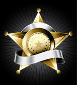 şerif rozeti — Stok Vektör