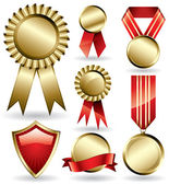 Award ribbons — Stock Vector