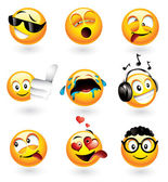 Various emoticons — Stock Vector