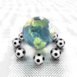 Royalty-Free Stock Photo: Soccer ball with earth