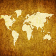 Old world map on retro paper — Stock Photo #1145664