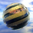 3D safety earth HDRI image — Stock Photo