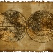 Stock Photo: Map with two hemispheres