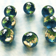 Stock Photo: 3d models of the earth
