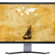 Royalty-Free Stock Photo: Monitor with metal screen