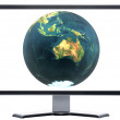 Monitor with metal screen — Stock Photo #1146234
