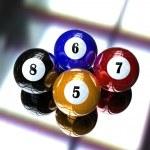 4 pool billiard ball — Stock Photo #1146242