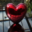 Stock Photo: Red love 3D heart
