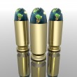 Bright 3D golden bullet — Stock Photo #1146435