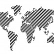 World map silhouette — Stock Photo #1146538