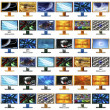 48 monitors — Stock Photo