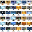 Stock Photo: 48 monitors