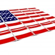 Usa flag isolated on a white — Stock Photo