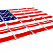 Usa flag isolated on a white - Stock Photo