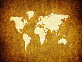 Old world map on retro paper — Stock Photo